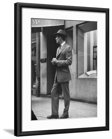 Man Modeling Executive Fashion-Nina Leen-Framed Photographic Print
