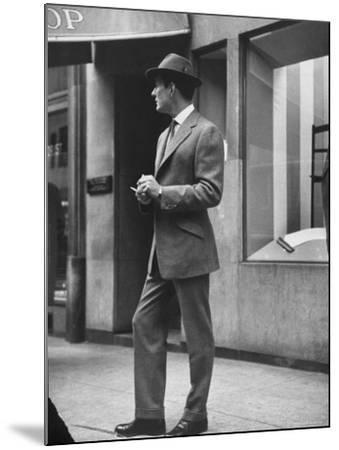 Man Modeling Executive Fashion-Nina Leen-Mounted Photographic Print