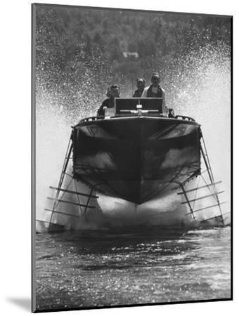 Canadian Navy Hydrofoil Boat, on the Test Run-Peter Stackpole-Mounted Photographic Print