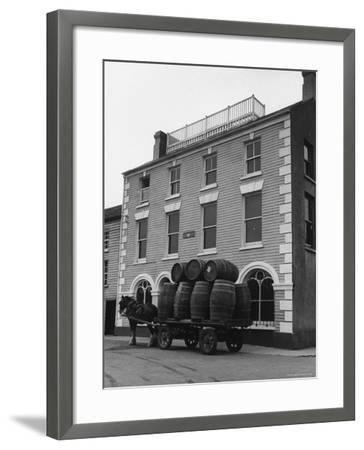 "Barrells in Irish Village Used During the Filming of ""Moby Dick""-Carl Mydans-Framed Photographic Print"