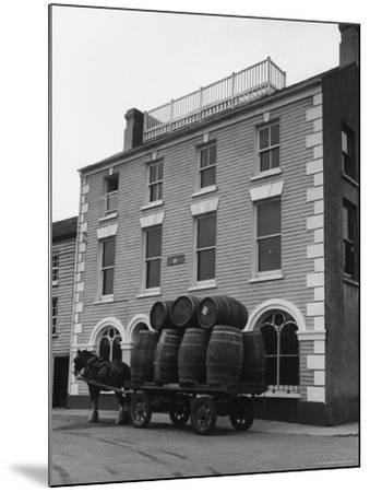 "Barrells in Irish Village Used During the Filming of ""Moby Dick""-Carl Mydans-Mounted Photographic Print"