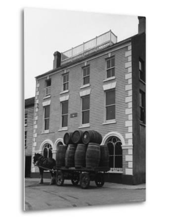 "Barrells in Irish Village Used During the Filming of ""Moby Dick""-Carl Mydans-Metal Print"