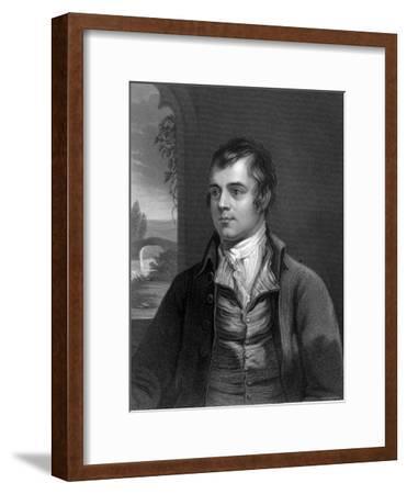 Portrait of Robert Burns, Scottish Poet--Framed Photographic Print