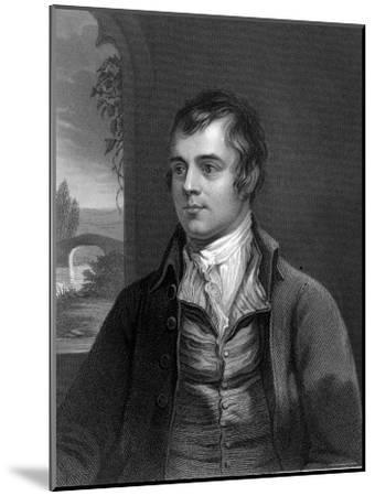 Portrait of Robert Burns, Scottish Poet--Mounted Photographic Print