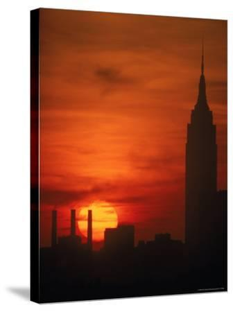 Sunset View with the Empire State Building-Alfred Eisenstaedt-Stretched Canvas Print