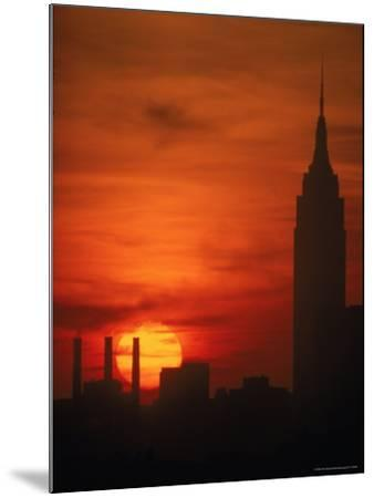 Sunset View with the Empire State Building-Alfred Eisenstaedt-Mounted Photographic Print
