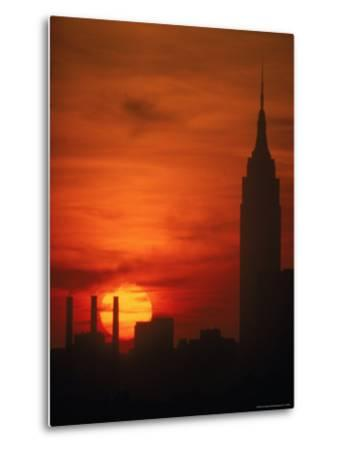 Sunset View with the Empire State Building-Alfred Eisenstaedt-Metal Print