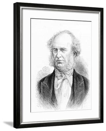 Portrait of Shipping Tycoon Cornelius Vanderbilt--Framed Photographic Print