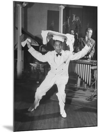 Waiter Dancing with a Tray on His Head-Wallace Kirkland-Mounted Photographic Print