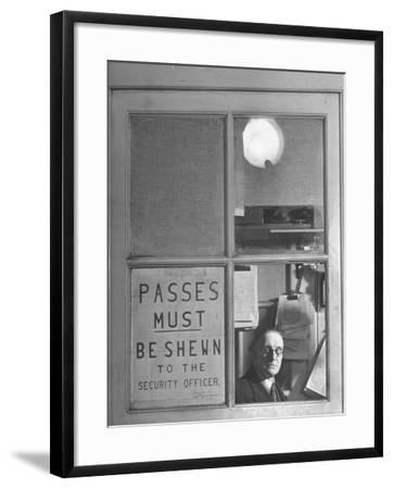 The Security Officer's Box Commanding the Main Entrance, is Manned Night and Day-Hans Wild-Framed Photographic Print
