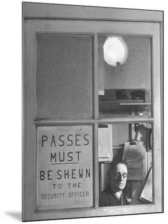 The Security Officer's Box Commanding the Main Entrance, is Manned Night and Day-Hans Wild-Mounted Photographic Print
