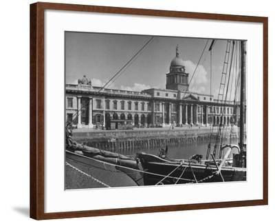 View of the Customs House in Dublin-Hans Wild-Framed Photographic Print