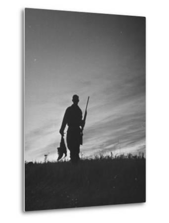 Pheasant Hunter Carrying Bird That He Killed-Wallace Kirkland-Metal Print