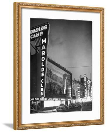 The Harolds Gambling Casino Lighting Up Like a Candle-J^ R^ Eyerman-Framed Photographic Print