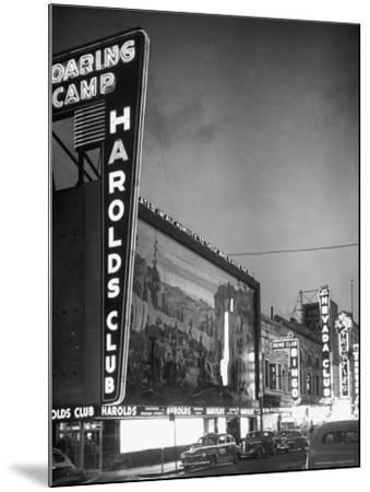 The Harolds Gambling Casino Lighting Up Like a Candle-J^ R^ Eyerman-Mounted Photographic Print