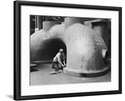 Workman at General Electric Plant-Alfred Eisenstaedt-Framed Photographic Print