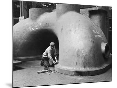 Workman at General Electric Plant-Alfred Eisenstaedt-Mounted Photographic Print