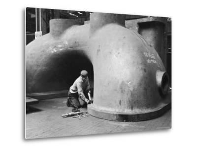 Workman at General Electric Plant-Alfred Eisenstaedt-Metal Print