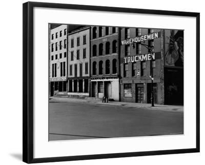 South Street, Just Below Coentus Slip-Walker Evans-Framed Photographic Print