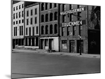 South Street, Just Below Coentus Slip-Walker Evans-Mounted Photographic Print