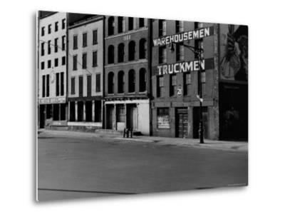 South Street, Just Below Coentus Slip-Walker Evans-Metal Print