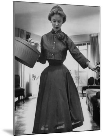Small Bag Wardrobe Fashion-Gordon Parks-Mounted Photographic Print