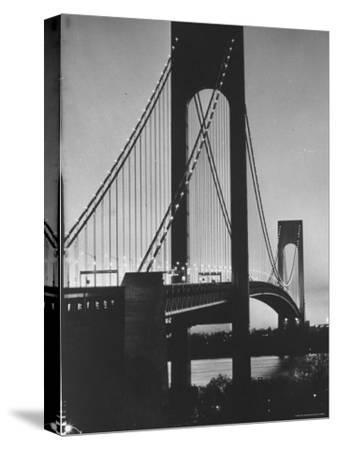 On Eve of Bridge Opening, Looking from Brooklyn to Staten Island-Dmitri Kessel-Stretched Canvas Print
