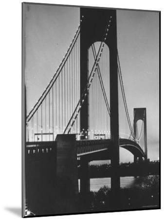 On Eve of Bridge Opening, Looking from Brooklyn to Staten Island-Dmitri Kessel-Mounted Photographic Print