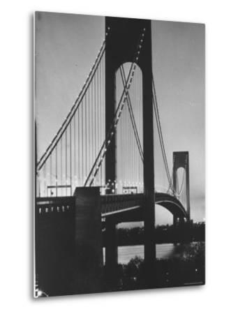 On Eve of Bridge Opening, Looking from Brooklyn to Staten Island-Dmitri Kessel-Metal Print