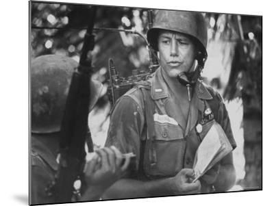 US Lt. Roger Zailskas Serving in Vietnam-Larry Burrows-Mounted Photographic Print