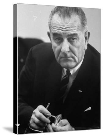 President Lyndon B. Johnson-Stan Wayman-Stretched Canvas Print