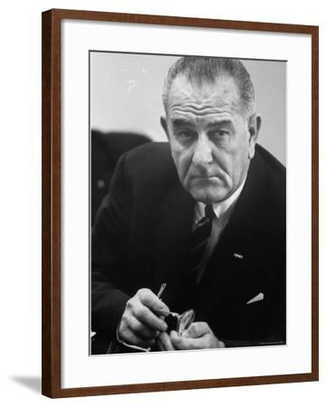 President Lyndon B. Johnson-Stan Wayman-Framed Photographic Print