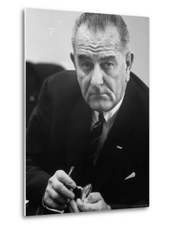 President Lyndon B. Johnson-Stan Wayman-Metal Print