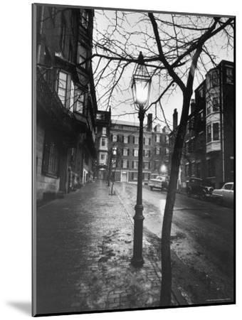 Rainy Beacon Hill St at Dusk During Series of Boston Stranglings-Art Rickerby-Mounted Photographic Print
