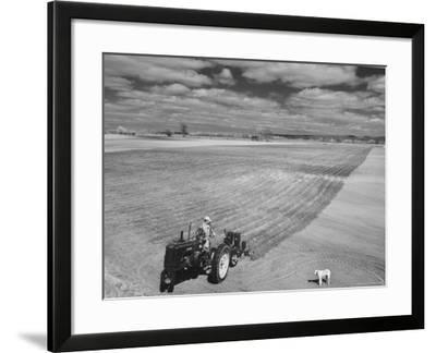 Spring Plowing in de Soto Kansas-Francis Miller-Framed Photographic Print