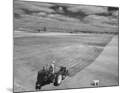 Spring Plowing in de Soto Kansas-Francis Miller-Mounted Photographic Print