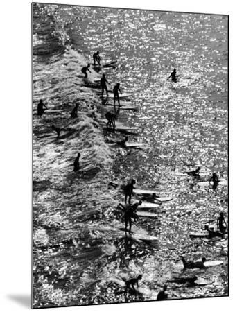 Surf Riders Surfing-Allan Grant-Mounted Photographic Print
