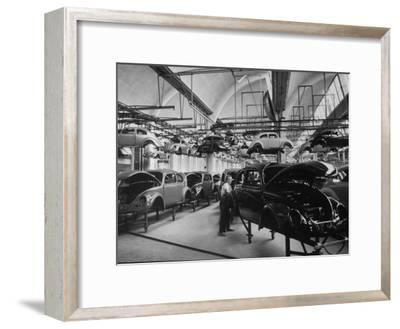Volkswagen Plant Assembly Line-James Whitmore-Framed Photographic Print
