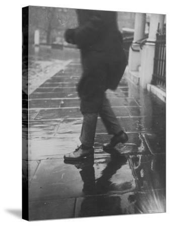 Reflections on Wet Pavement-Emil Otto Hopp?-Stretched Canvas Print
