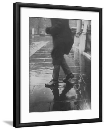 Reflections on Wet Pavement-Emil Otto Hopp?-Framed Photographic Print