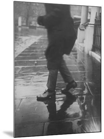 Reflections on Wet Pavement-Emil Otto Hopp?-Mounted Photographic Print