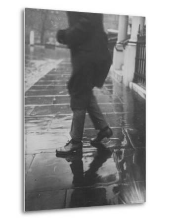 Reflections on Wet Pavement-Emil Otto Hopp?-Metal Print