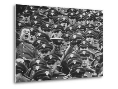 West Point Cadets Cheering During Army vs. Notre Dame Game-Francis Miller-Metal Print