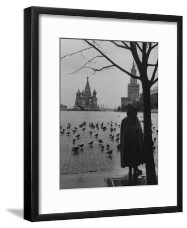 View Across Red Square of St. Basil's Cathedral and the Kremlin-Howard Sochurek-Framed Photographic Print