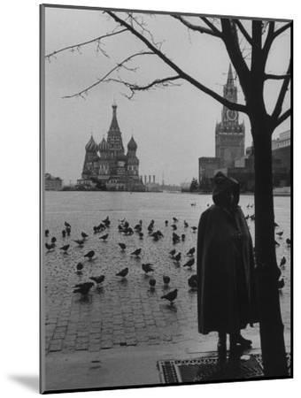 View Across Red Square of St. Basil's Cathedral and the Kremlin-Howard Sochurek-Mounted Photographic Print