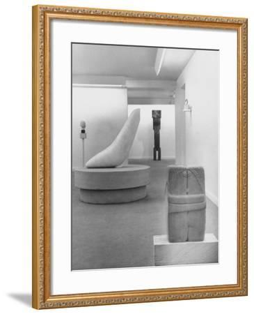 Sculptures by Brancusi on Exhibit at the Guggenheim Museum-Nina Leen-Framed Photographic Print