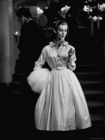 Scene from a Private Fashion Show-Nina Leen-Framed Photographic Print
