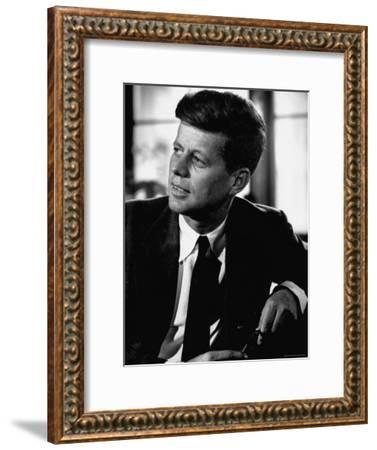 Senator John F. Kennedy, Posing For Picture-Hank Walker-Framed Photographic Print