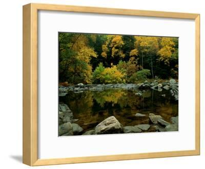 An Autumn View of Calf Pasture River-Medford Taylor-Framed Photographic Print