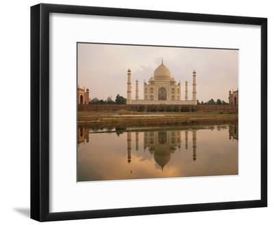 A View of the Taj Mahal Reflected in the Yamuna River-Bill Ellzey-Framed Photographic Print